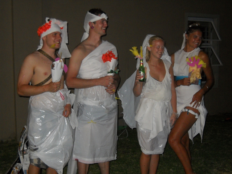 "I just Googled ""garbage bag toga"". This is apparently a thing? #WhoWoreItBetter? The guy in Herald Square."
