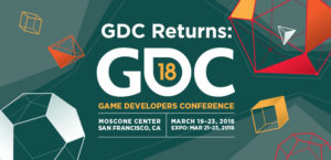 GDC 2018 logo and dates